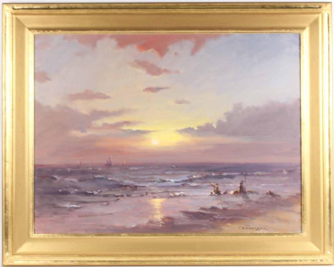 Oil on Canvas, Sunset, Robert Waltsak