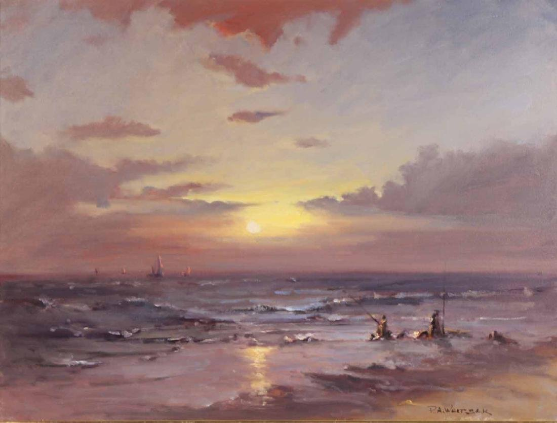 Oil on Canvas, Sunset, Robert Waltsak - 3
