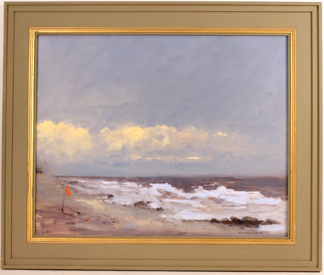 Oil on Canvas, Storm, Robert Waltsak