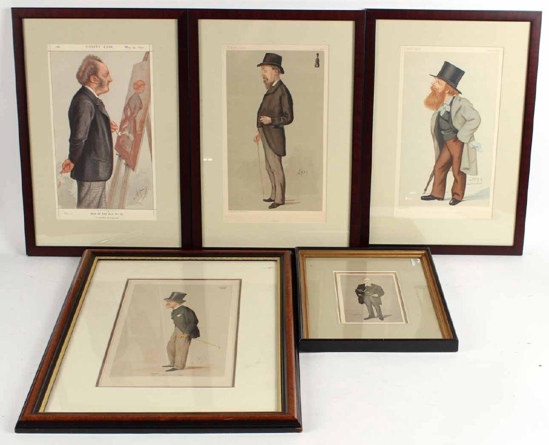 Four Framed Vanity Fair Prints of Men