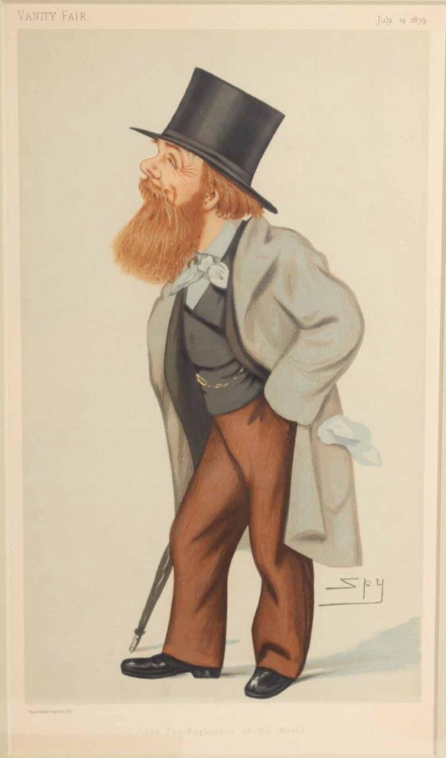 Four Framed Vanity Fair Prints of Men - 4
