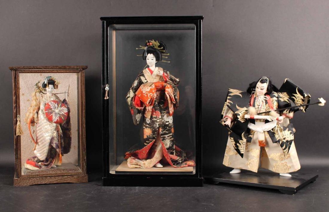 Three Japanese Standing Dolls