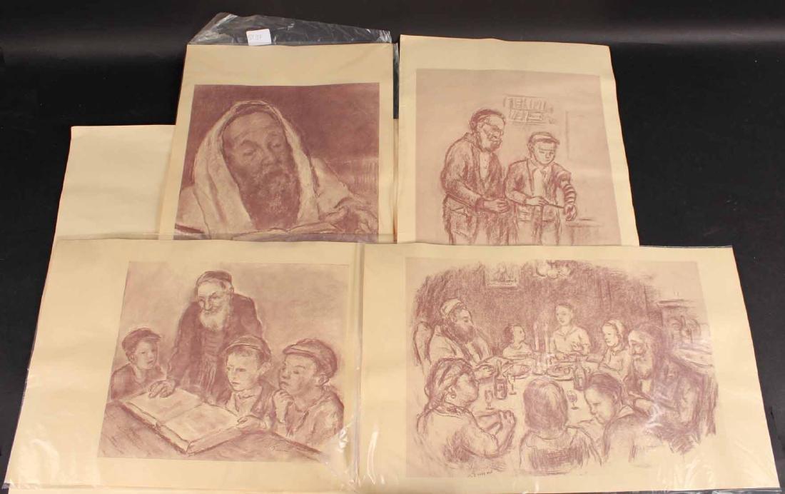 "Four ""Jewish Life"" Prints by Barnard Gussow"