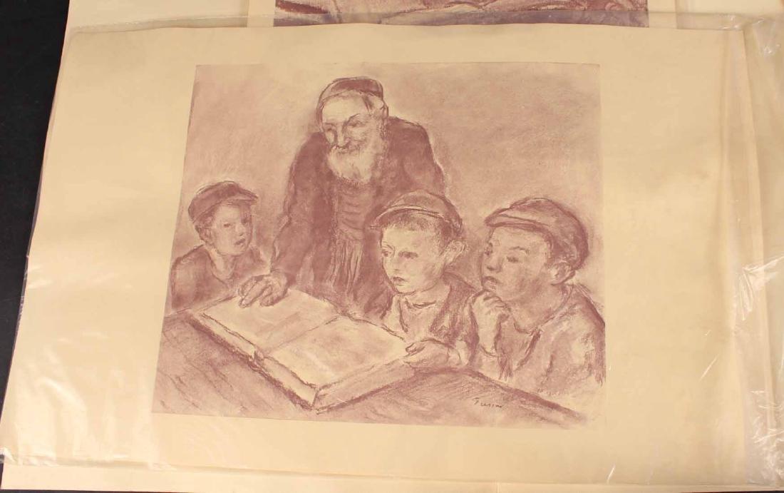 "Four ""Jewish Life"" Prints by Barnard Gussow - 3"