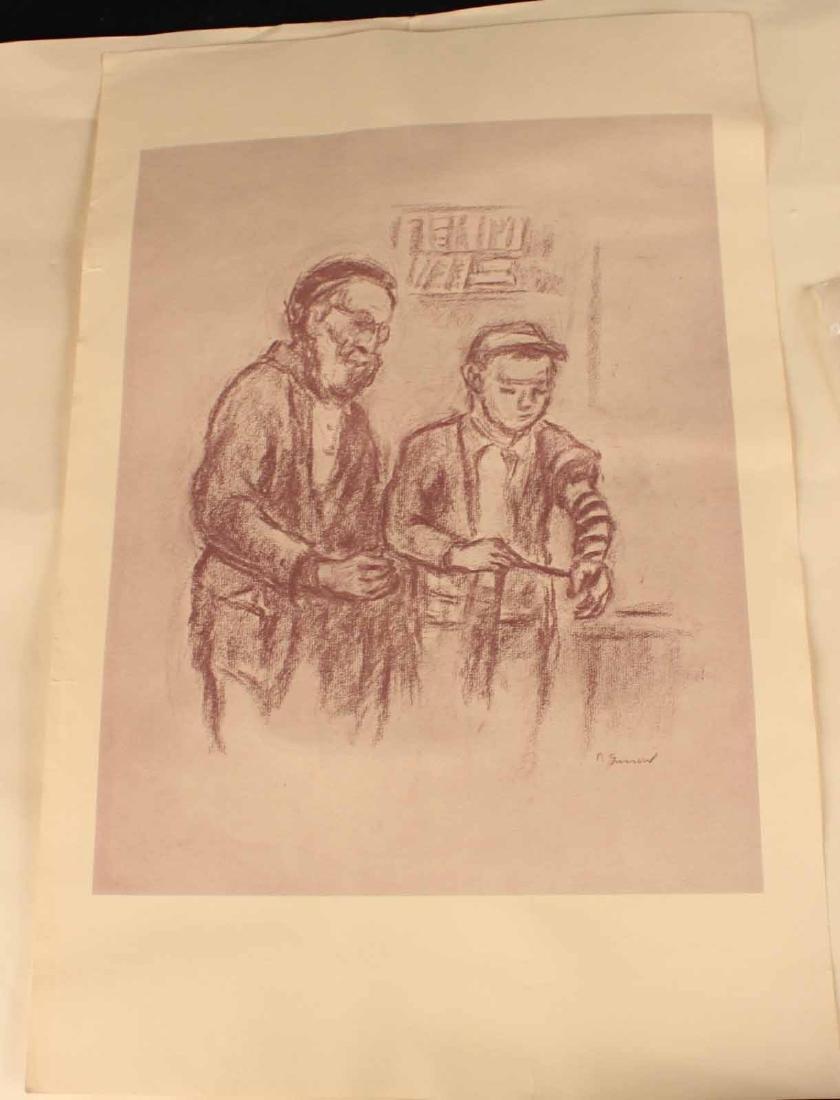 "Four ""Jewish Life"" Prints by Barnard Gussow - 5"