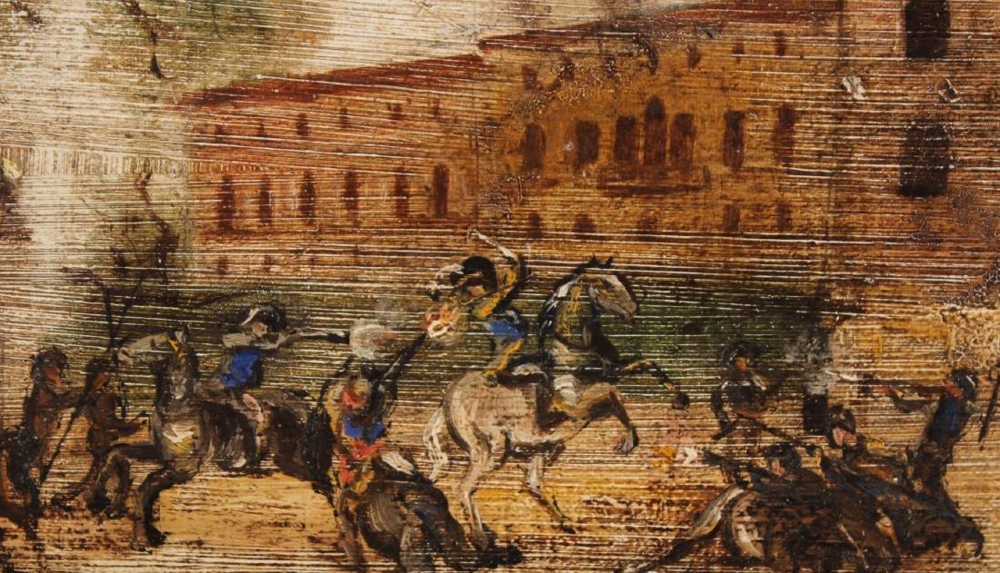 Oil on Canvas, Battle Near Tower - 3