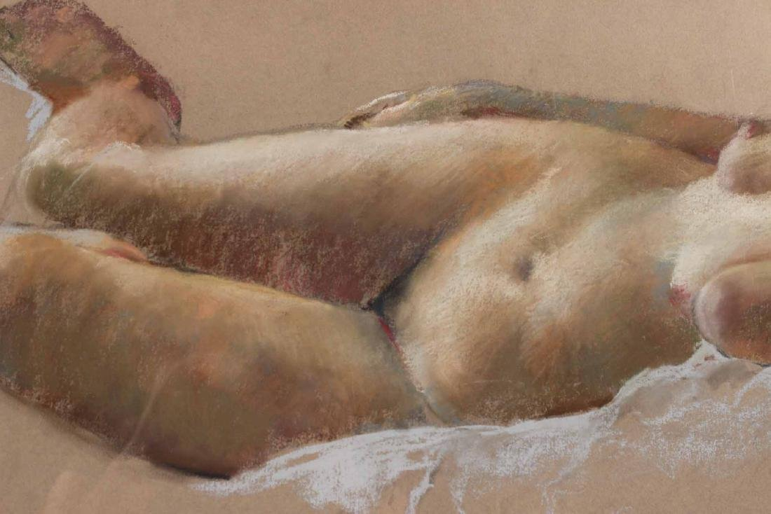 Pastel on Paper, Reclining Nude, Ruggles - 5