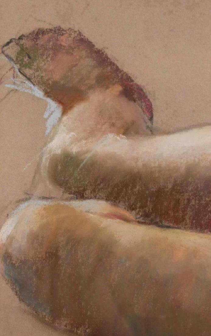 Pastel on Paper, Reclining Nude, Ruggles - 6