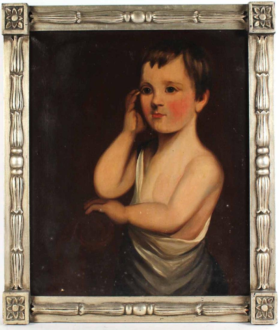 Oil on Canvas, Portrait of a Boy
