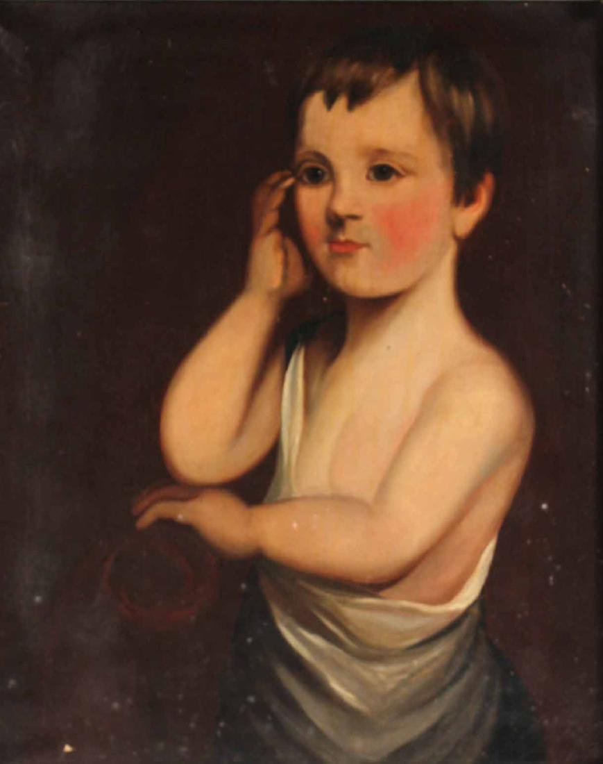 Oil on Canvas, Portrait of a Boy - 2