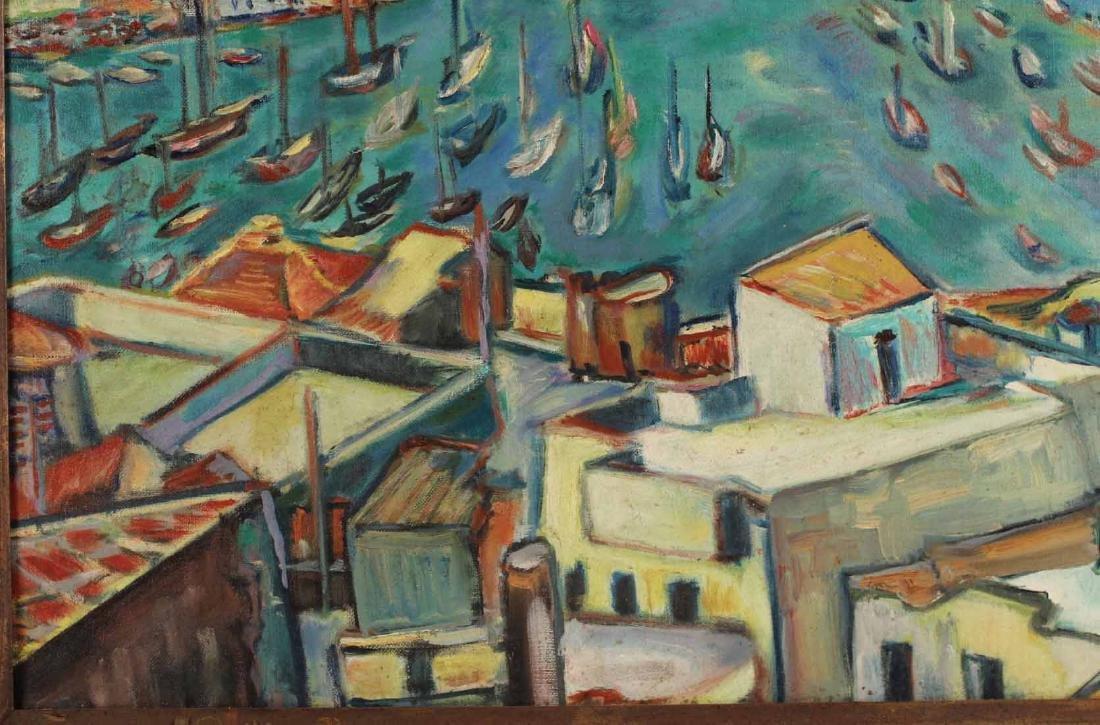 Oil on Canvas, Grecian Port, Joachim Papadopoulos - 4