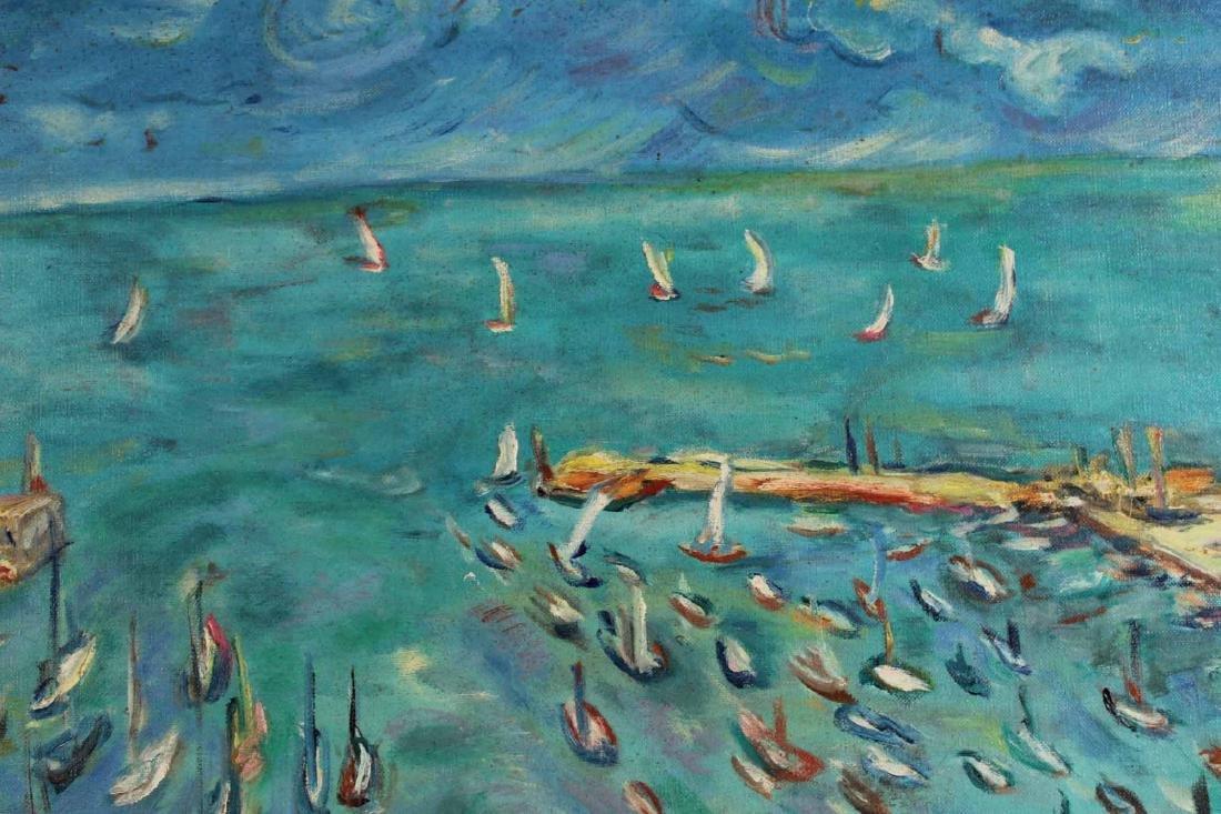 Oil on Canvas, Grecian Port, Joachim Papadopoulos - 5