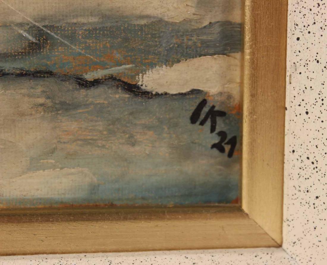 Oil on Board, Jakob Kahn, Abstract Bridge - 3
