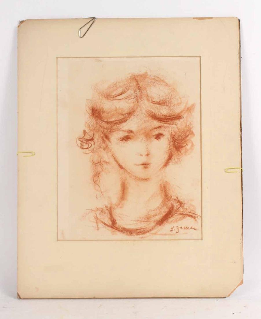 Conte Crayon on Paper, L. Zucker, Child