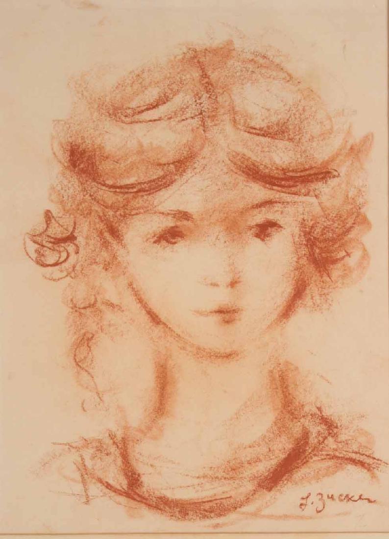 Conte Crayon on Paper, L. Zucker, Child - 2
