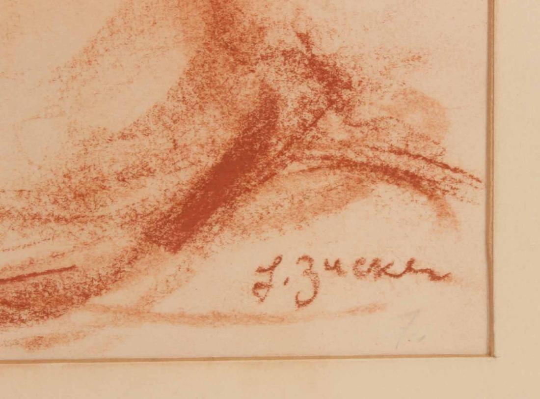 Conte Crayon on Paper, L. Zucker, Child - 3