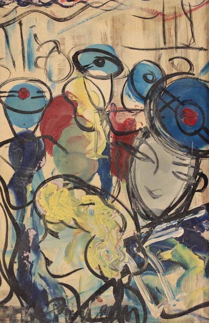 Oil on Board, Michel Marie Poulain, Bar - 2
