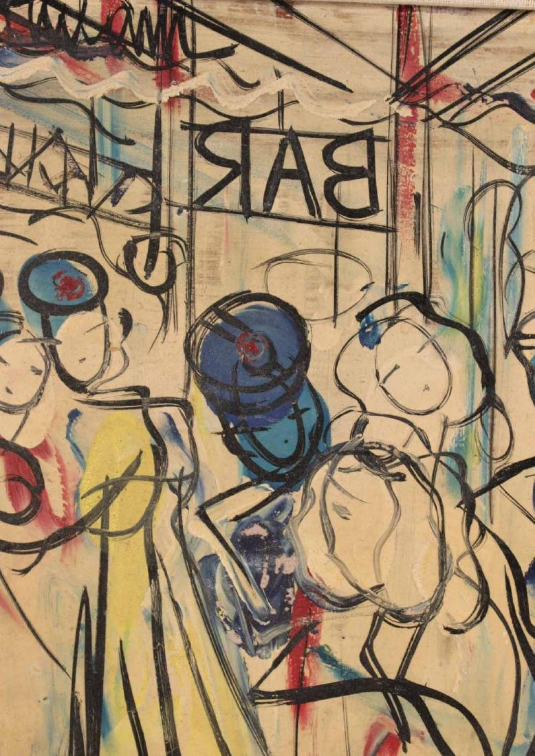 Oil on Board, Michel Marie Poulain, Bar - 3
