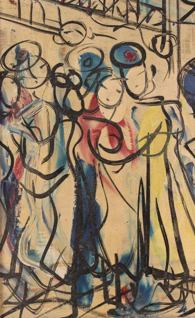 Oil on Board, Michel Marie Poulain, Bar - 4