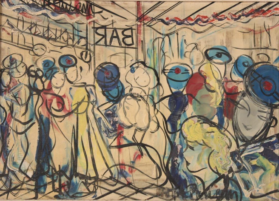 Oil on Board, Michel Marie Poulain, Bar - 8