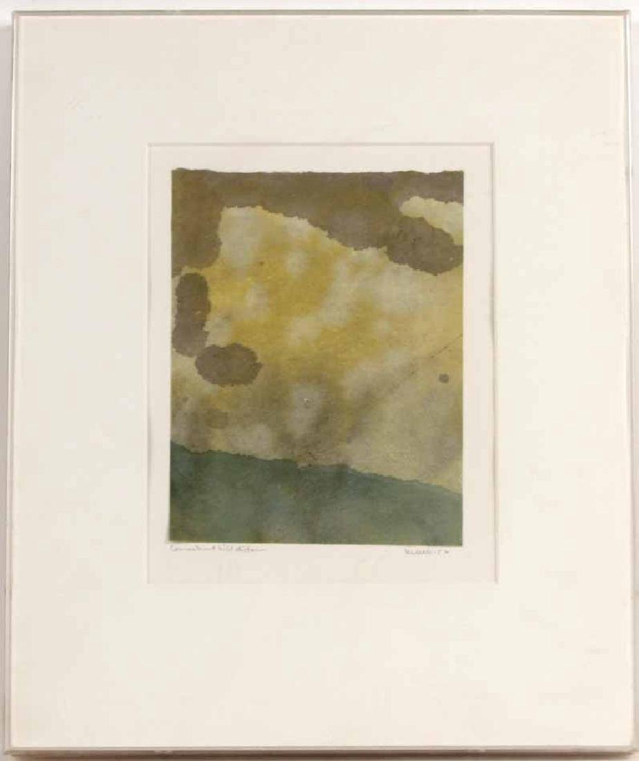 Abstract Print on Paper in Green