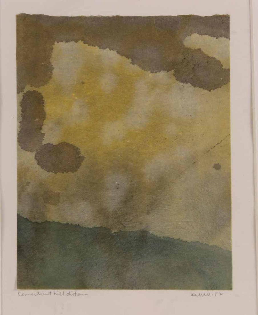 Abstract Print on Paper in Green - 2