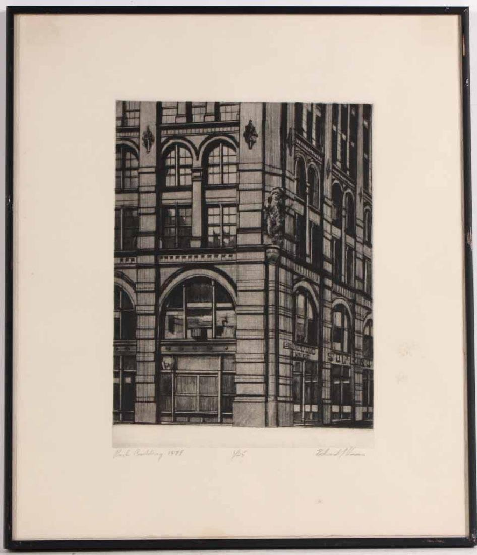 Etching, Richard Haas, Puck Building