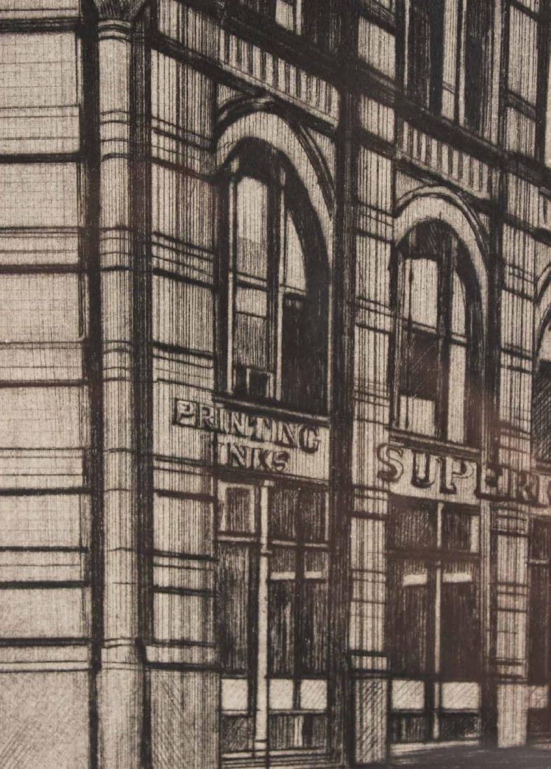 Etching, Richard Haas, Puck Building - 6