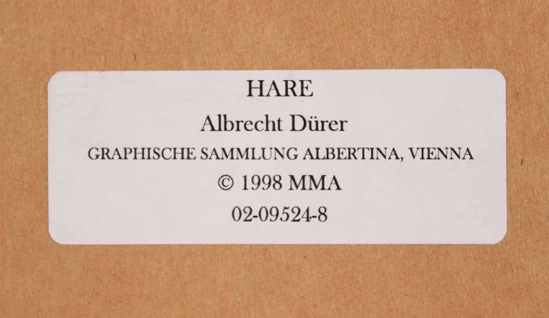 Two Prints, Albrecht Durer, Owl and Rabbit - 10