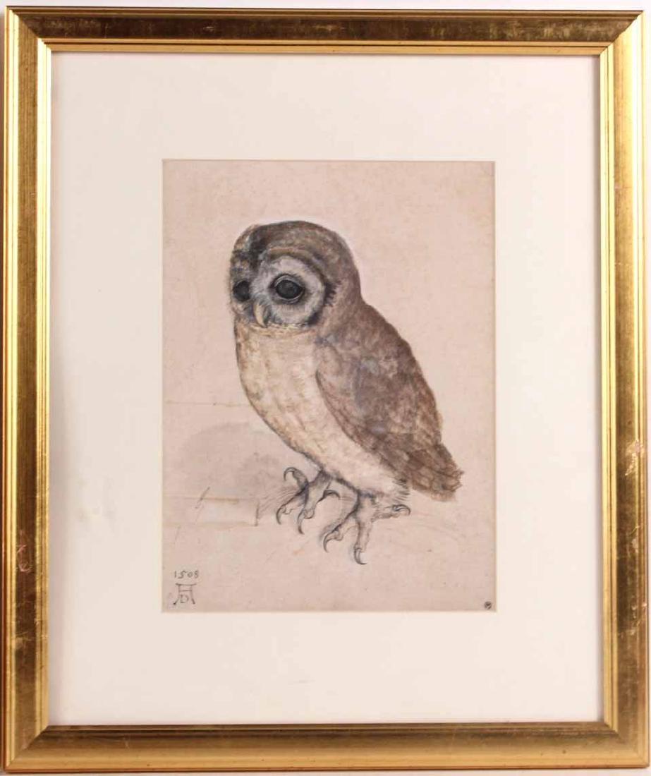 Two Prints, Albrecht Durer, Owl and Rabbit - 2