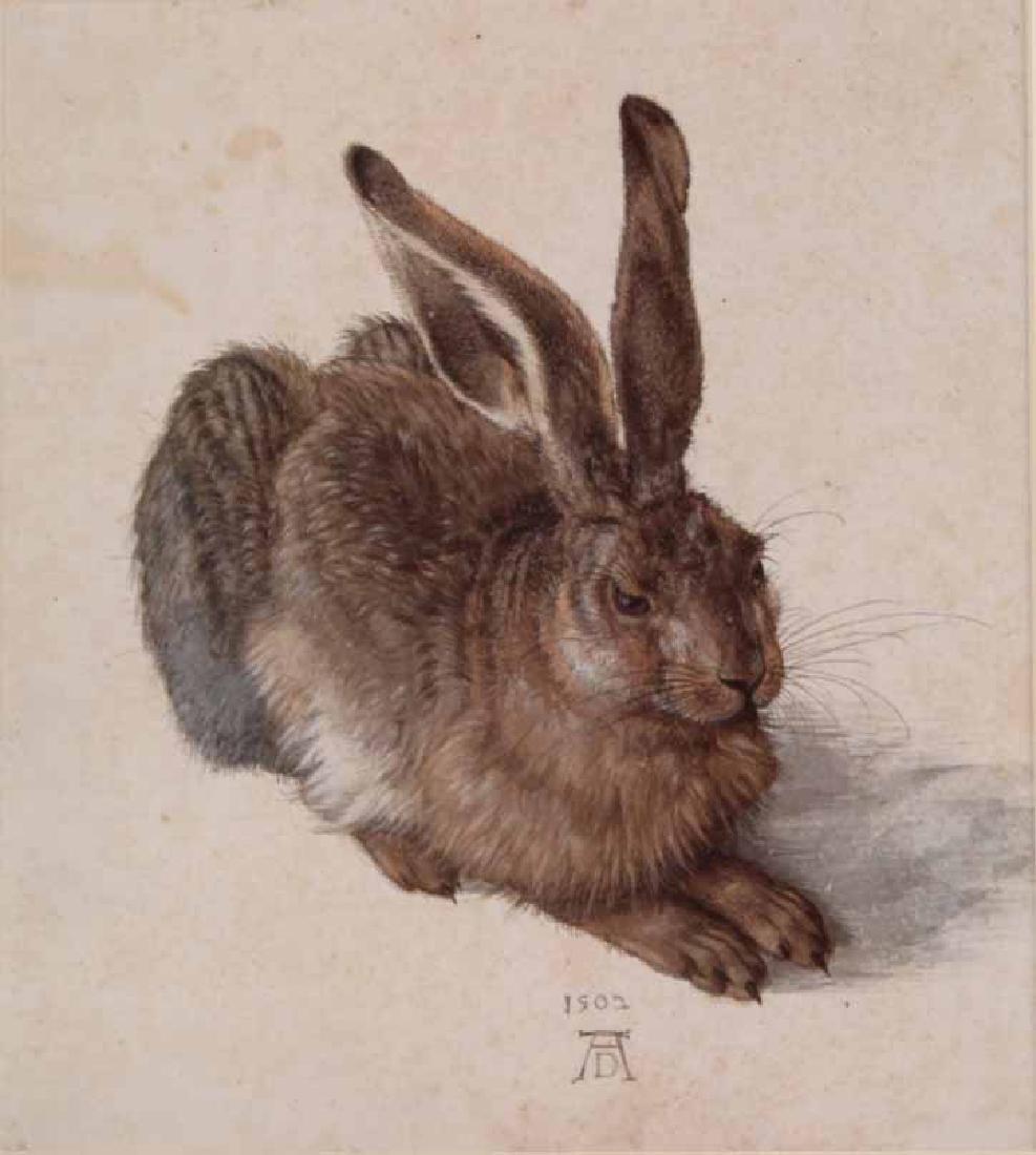 Two Prints, Albrecht Durer, Owl and Rabbit - 7