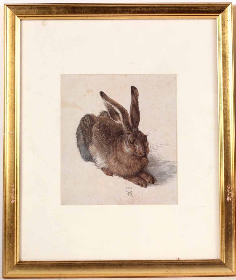 Two Prints, Albrecht Durer, Owl and Rabbit - 8