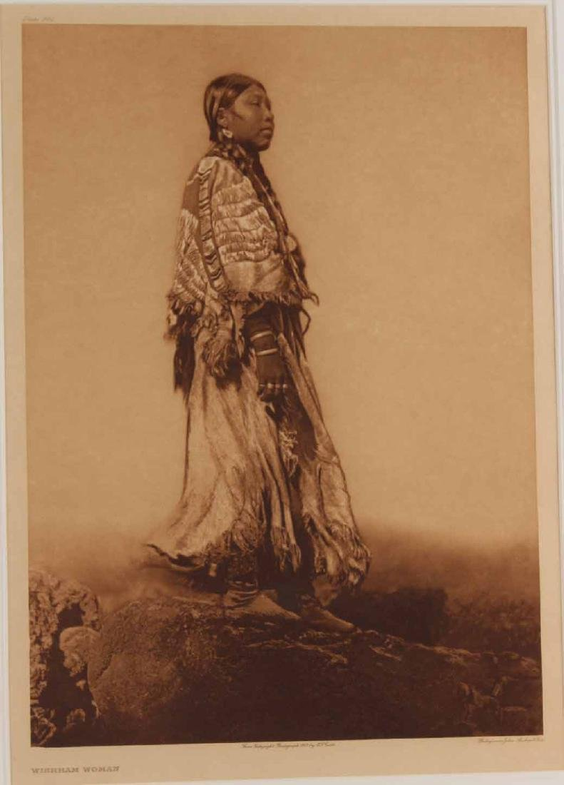 Print, Edward Curtis, Wishham Woman - 2