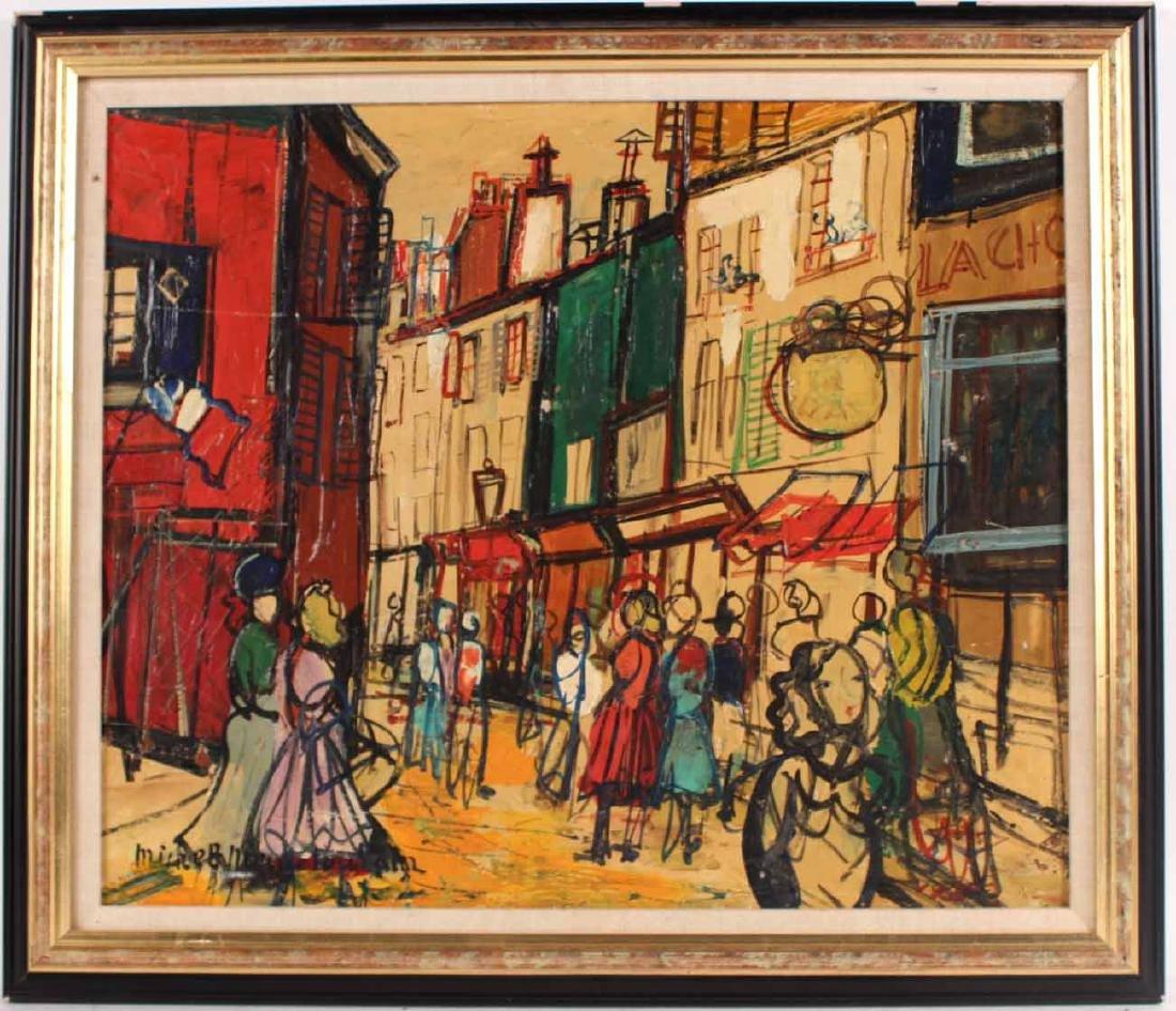 Oil on Board, Michel Marie Poulain