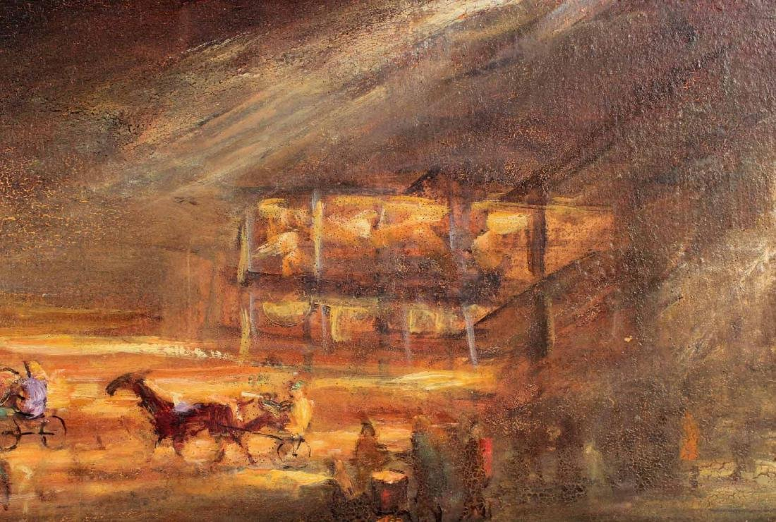 Oil on Board, Lee Jackson, Yonkers Raceway - 3