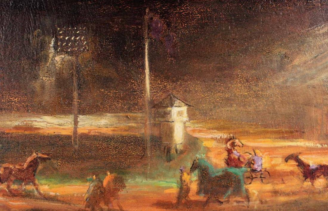 Oil on Board, Lee Jackson, Yonkers Raceway - 4