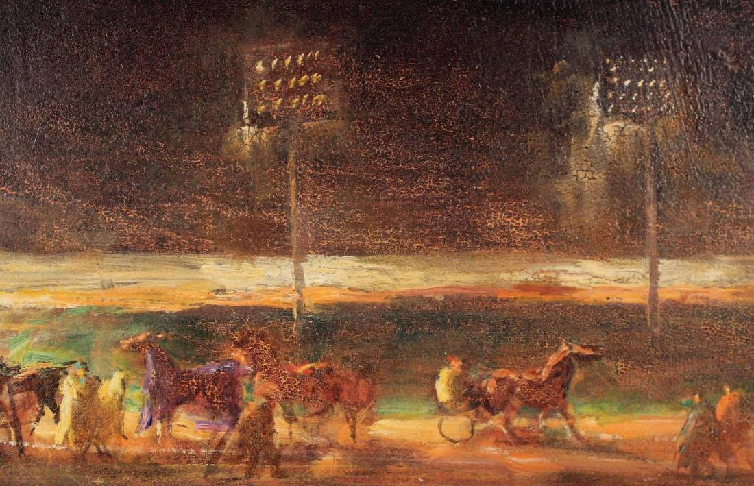 Oil on Board, Lee Jackson, Yonkers Raceway - 5