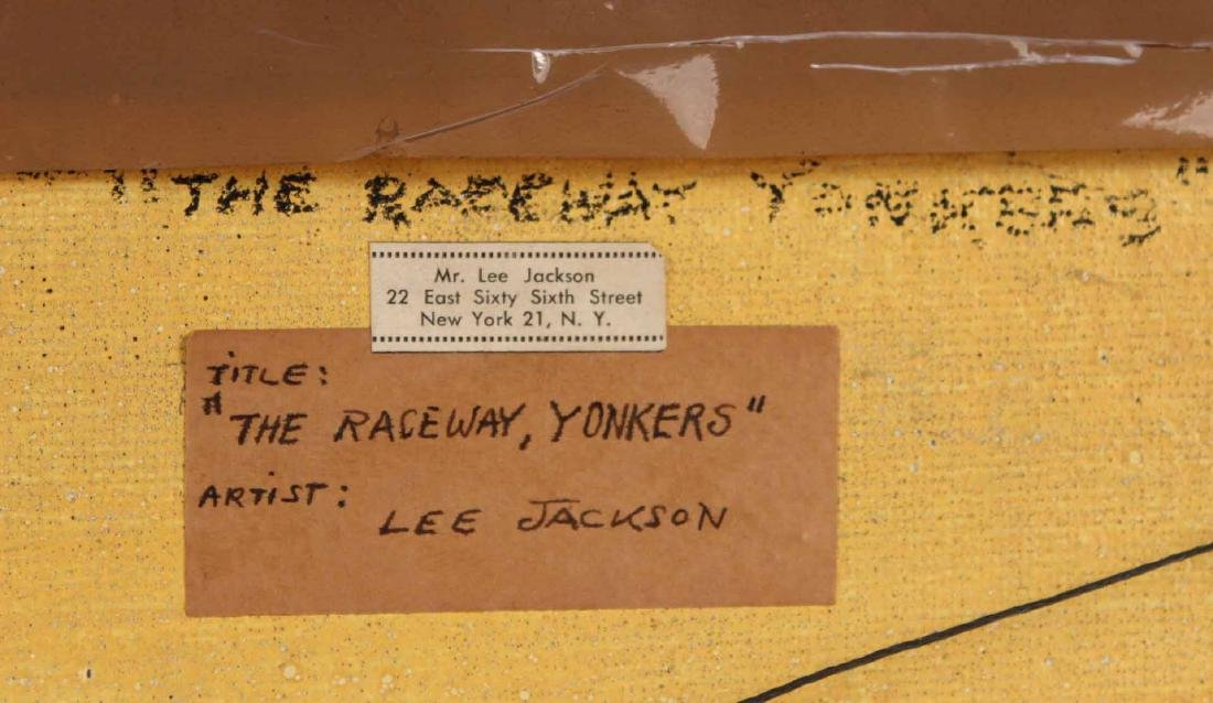 Oil on Board, Lee Jackson, Yonkers Raceway - 7