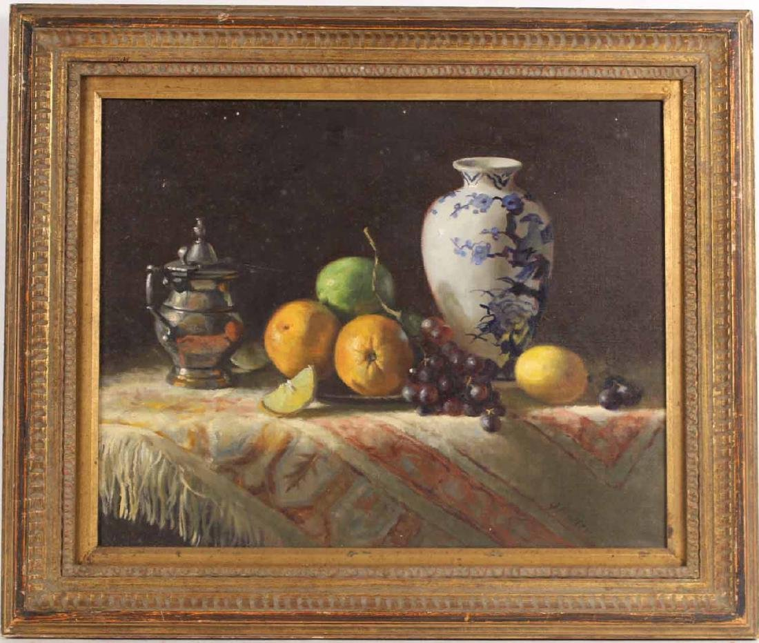 Oil on Canvas, Still Life with Fruit, Joan Potter