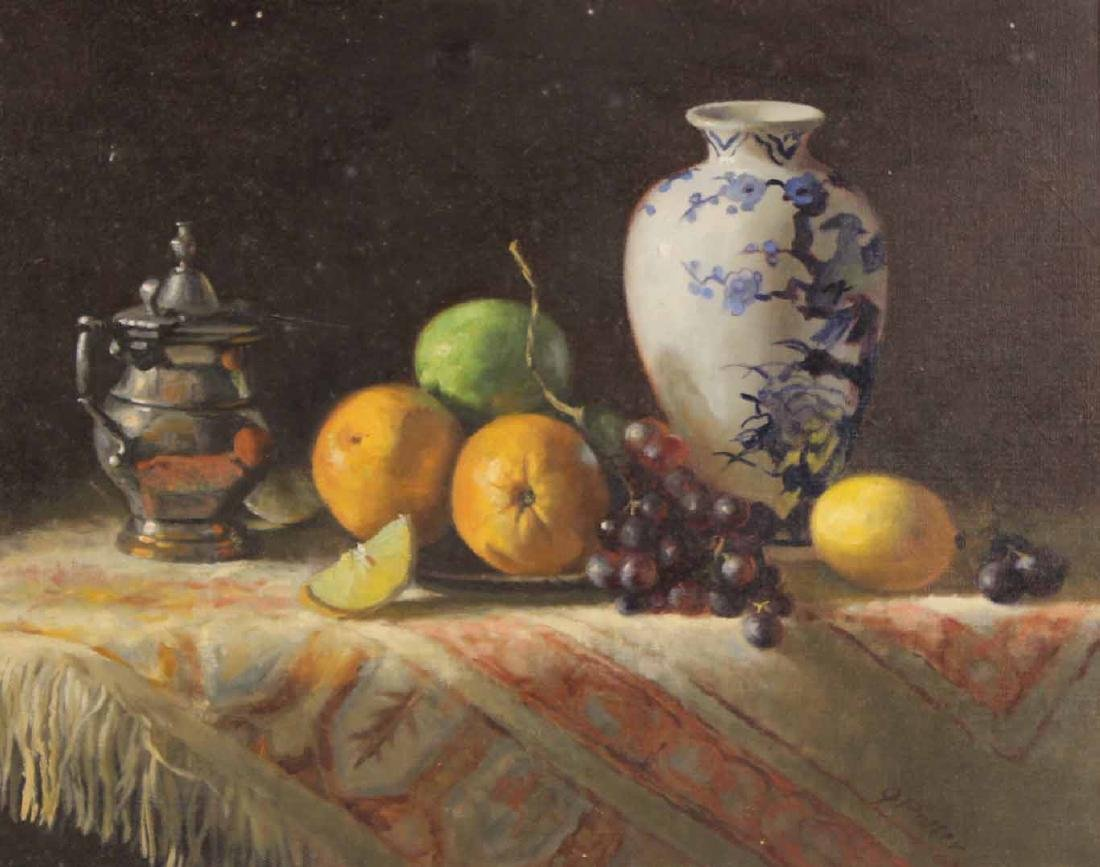Oil on Canvas, Still Life with Fruit, Joan Potter - 2
