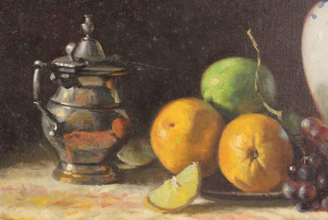 Oil on Canvas, Still Life with Fruit, Joan Potter - 4