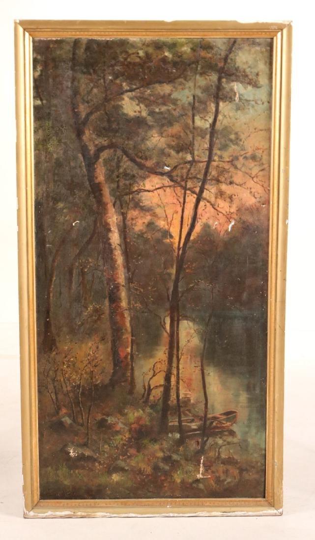 Oil on Canvas, Woodland Interior