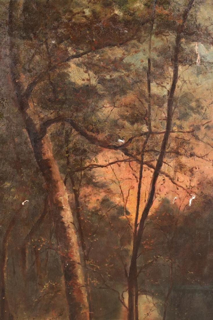 Oil on Canvas, Woodland Interior - 2