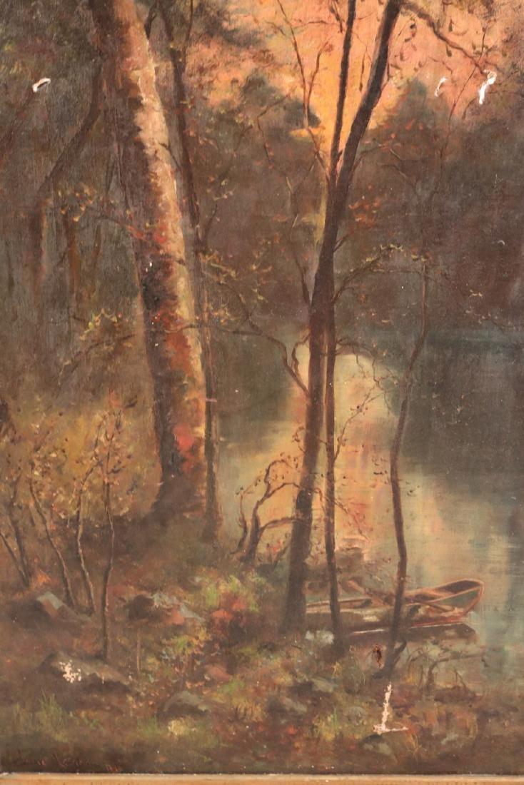 Oil on Canvas, Woodland Interior - 3
