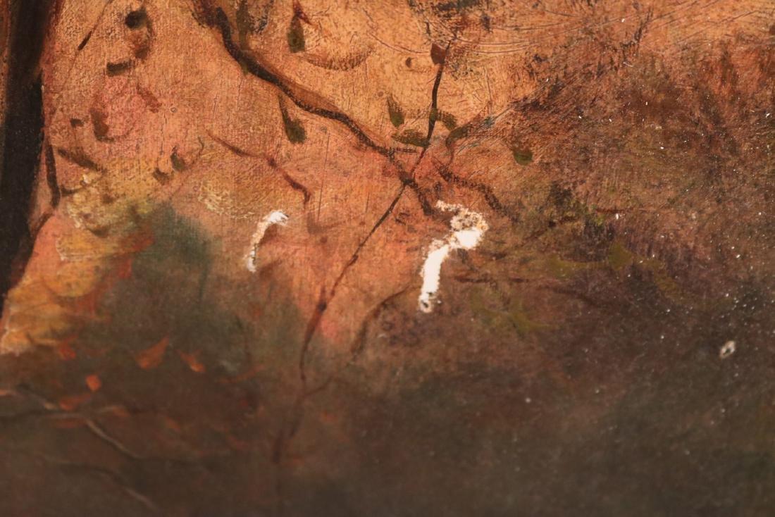 Oil on Canvas, Woodland Interior - 5