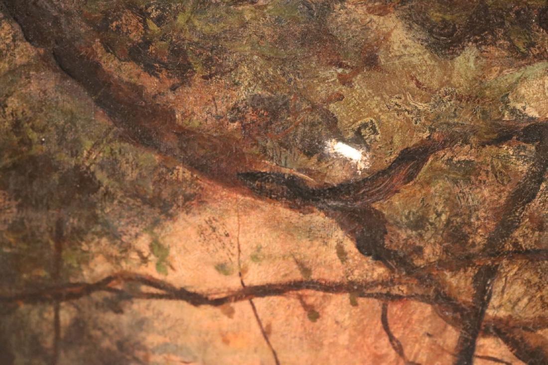 Oil on Canvas, Woodland Interior - 6
