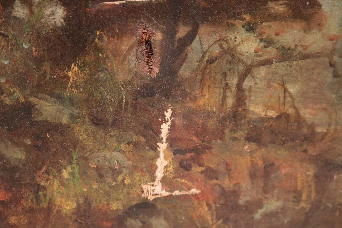 Oil on Canvas, Woodland Interior - 7