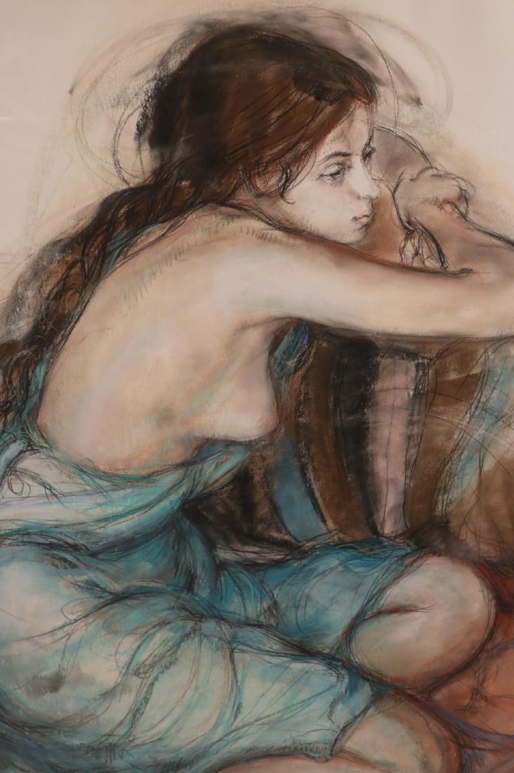Mixed Media, Female Nude, Sheldon Schoenberg - 2