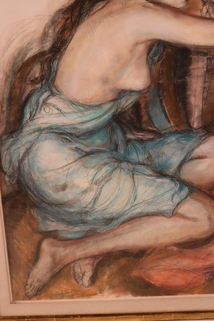 Mixed Media, Female Nude, Sheldon Schoenberg - 3