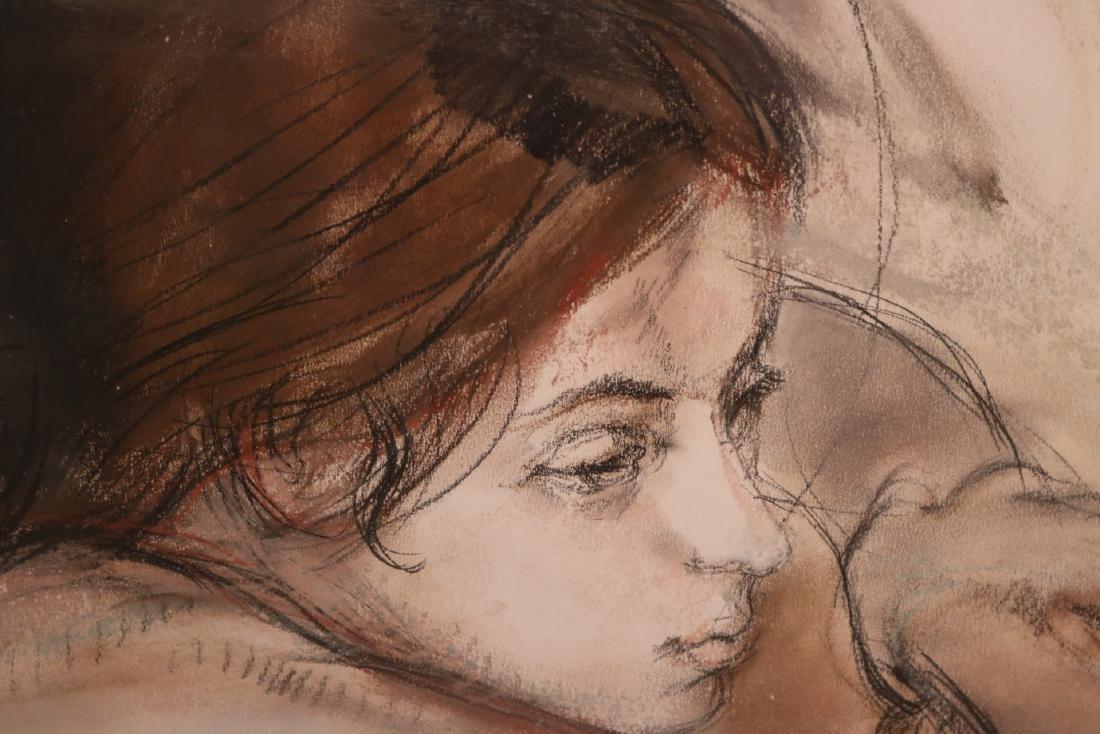Mixed Media, Female Nude, Sheldon Schoenberg - 4